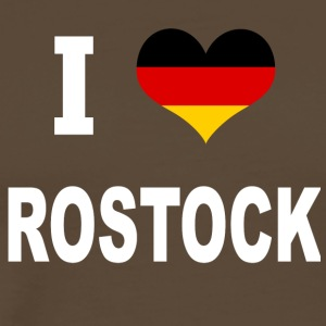 I Love Germany ROSTOCK - Premium T-skjorte for menn
