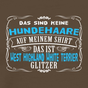 Hundehaare West Highland White Terrier - Männer Premium T-Shirt