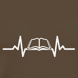 My heart beats for books - Men's Premium T-Shirt