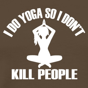 I do yoga so i dont kill people - Men's Premium T-Shirt