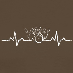 My heart beats for bowling - Men's Premium T-Shirt