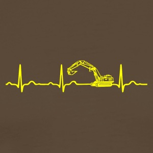 ECG HEARTBEATER Yellow - Men's Premium T-Shirt