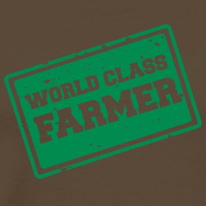 Farmer / Farmer / Farmer: World Class Farmer - Premium-T-shirt herr