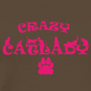 CRAZY PINK Catlady - Men's Premium T-Shirt