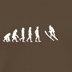 EVOLUTION backhoppning - Premium-T-shirt herr