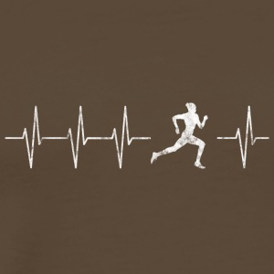 Running and jogging heart beat - Men's Premium T-Shirt