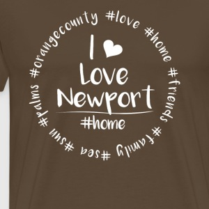 Ik hou van Newport - Orange County - Mannen Premium T-shirt