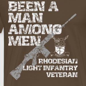 RHODESIAN LIGHT INFANTRY VETERAN - Herre premium T-shirt