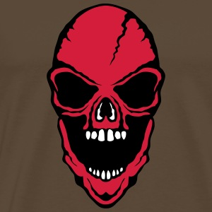scary death head halloween open mouth - Men's Premium T-Shirt
