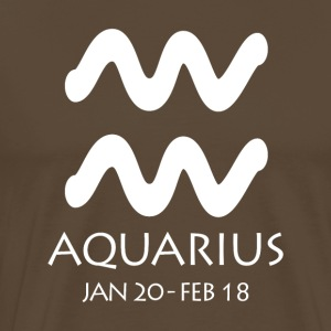 Aquarius Zodiac Sign - Männer Premium T-Shirt