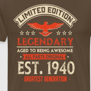 Limited Edition Legendary Est 1940 - Premium-T-shirt herr