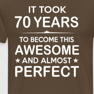 It took 70 years to become this awesome - Men's Premium T-Shirt