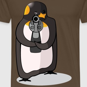 killer penguin colored - Men's Premium T-Shirt