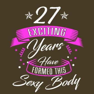Geschenk Voor De 27e Verjaardag 27 Jaar Vrouwen Ringer T Shirt