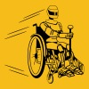 Cool funny robot wheelchair funny - Men's Premium T-Shirt