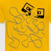 broken cassette tape with salad - Men's Premium T-Shirt