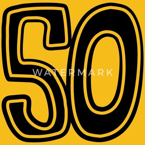 Zahl 50 Funfzig Comic Runder Geburtstag Alt Von Style O Mat