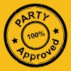 Party Stempel, Approved - Männer Premium T-Shirt