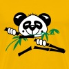 Panda loves bamboo plants  - Herre premium T-shirt