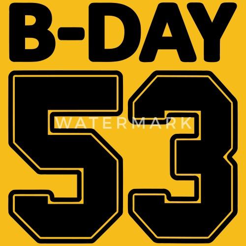 regalo di compleanno 53 ° numero di schiena, il numero, il numero di ...