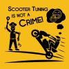 Scooter Tuning is not a Crime! - Mannen Premium T-shirt