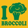 I love broccoli vegetable logo - Men's Premium T-Shirt