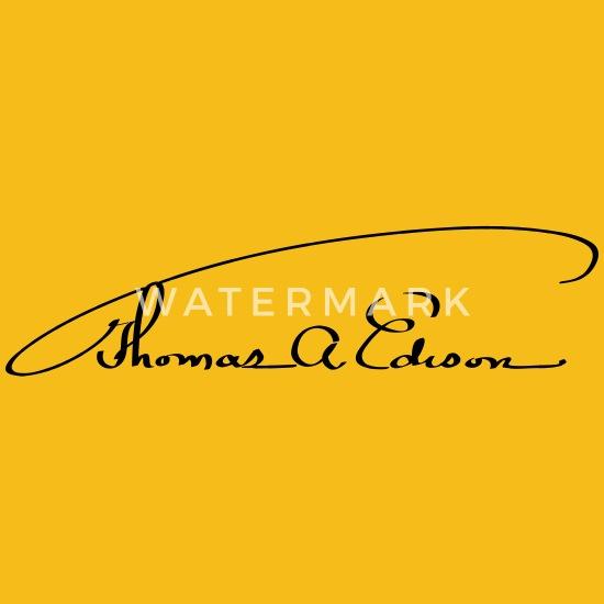 Thomas Alva Edison Signature Mens Premium T Shirt Spreadshirt