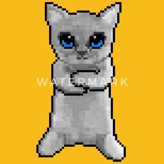 Chat Nest Pas Content Pixel Art T Shirt Premium Homme