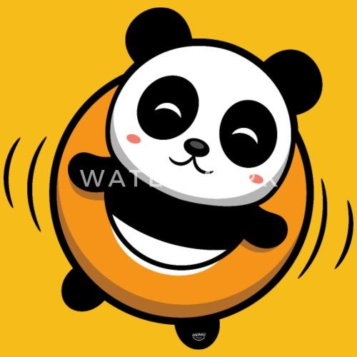 Cute Little Panda Bear Pool Cute Baby Gift Comic Mens Premium T