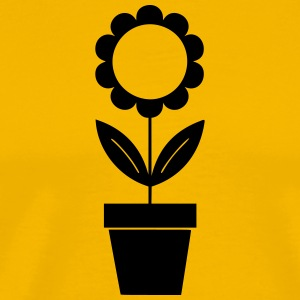 Sunflower Silhouette - Premium T-skjorte for menn