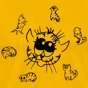Sun from incredibly cute cats - Men's Premium T-Shirt