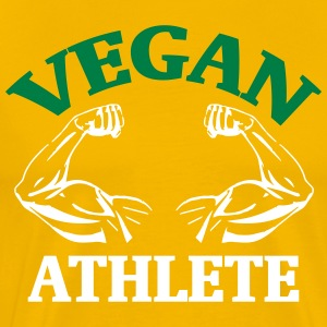 Athlete Vegan vegetarer Veggie gave - Herre premium T-shirt