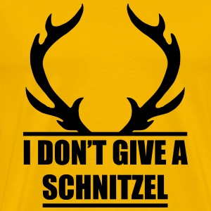 I Do not give a schnitzel - oktoberfest - beerfest - Men's Premium T-Shirt