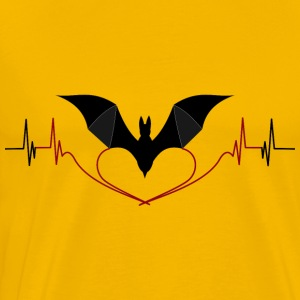 Bat Heart Love Lie EKG, Bats do not lie! - Men's Premium T-Shirt