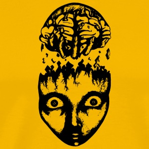 Black brain pull - Men's Premium T-Shirt