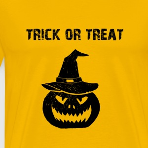 Halloween trick eller behandla trick or treat pumpa - Premium-T-shirt herr