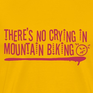 No Crying - While Biking - Men's Premium T-Shirt