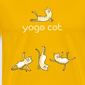 Cat yoga cat cute namaste humor funny LOL - Men's Premium T-Shirt