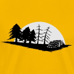 Forestry Forestry Setting Moon Gift - Men's Premium T-Shirt