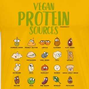 Vegan Protein Sources - Men's Premium T-Shirt