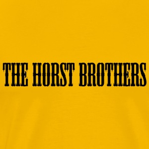 The Brothers HORST Font Sort - Herre premium T-shirt
