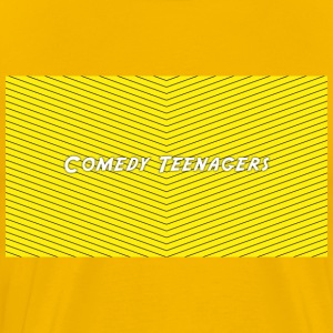 Yellow Comedy Teenagers T Shirt - Premium-T-shirt herr