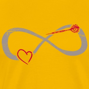 Infinite Love ∞ Dart Arrow ∞ I love Dart - Men's Premium T-Shirt