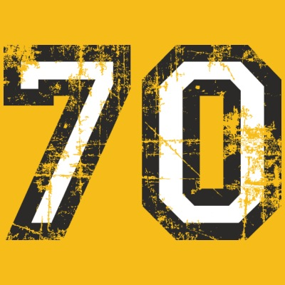 Numero 70 Seventy 70° Compleanno Design (IT)