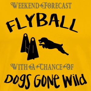 Flyball Weekend prognos - Premium-T-shirt herr