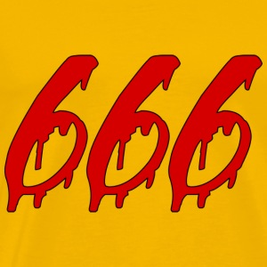 666 - Premium T-skjorte for menn