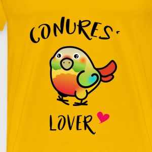 Conures' Lover: Pineapple - Premium T-skjorte for menn