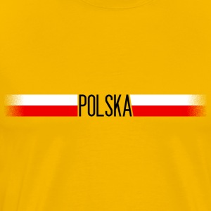 Poland flag / banner 007 AllroundDesigns - Men's Premium T-Shirt