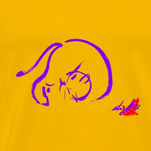 PURPLE CAT CHUTE - Premium-T-shirt herr