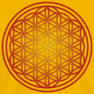 Yoga Mandala Flower of Life - Premium-T-shirt herr